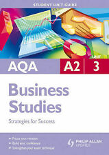 AQA A2 Business Studies: Strategies for Success: Unit 3 by Malcolm Surridge (Pa…