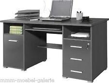 Büro Computertisch Büromöbel Schreibtisch anthrazit