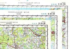 Russian Soviet Military Topographic Maps -  LATVIA, 1:100 000 (85 maps set)
