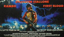 First Blood (1982) Rambo Sylvester Stallone movie poster print 4