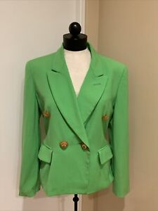 Moschino Couture Lime Green Blazer Size Small
