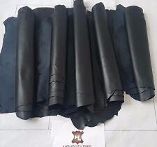 Leather Hide,BUNDLE, BLACK NAPPA Leather 5 or 6 Skins,5-6SqFt, 35SqFt .Grade AA
