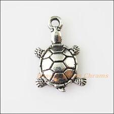 6Pcs Antiqued Silver Tone Animal Tortoise Turtle Charms Pendants 11.5x18.5mm