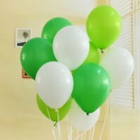"""10"""" GREEN, LIGHT GREEN, WHITE Latex Balloons Air/Helium Party Decorations BALOON"""