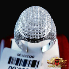 1.00ctw Diamond Invisible Mens Band 14k White Gold Ring