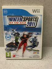 JEU Wii WINTER SPOTS GO FOR GOLD 2011 AVEC NOTICE PAR NINTENDO