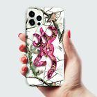 Pink Deer Head Camo Snow iPhone 12 Pro Max Mini 11 XR X XS Max Hybrid Hard case