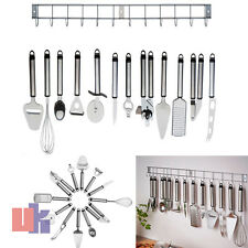 12 Piece Stainless Steel Kitchen Utensils With Hanging Rack Holder Stylish Look