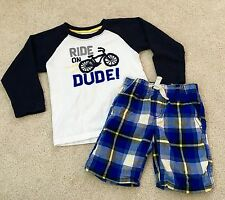 Gymboree Boys Short/Long Sleeve Set~4T~Ride on Dude EC! ADORABLE!