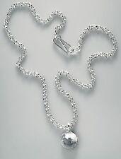 Martin Hardt, oval cadena de anclaje con montaña cristal remolque, Sterling plata