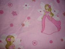 Baumwollstoff  rosa pink Prinzessin und Blümchen 1,40m breit ab 50cm