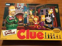CLUE - The Simpsons Clue 2nd Edition 2002 Board Game Parker Bros 100% COMPLETE