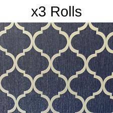 x3 Rolls Debona Crystal Trellis Wallpaper Glitter Blue Silver Metallic Sparkle