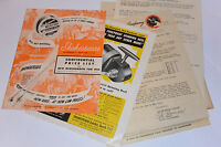 VINTAGE 1952 SHAKESPEARE FISHING DEALER PRICE LIST & CATALOG! RODS/REELS/LINE+++