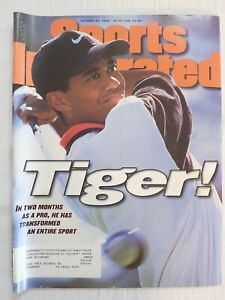SPORTS ILLUSTRATED SI MAGAZINE OCTOBER 28 1996 TIGER WOODS 1st COVER
