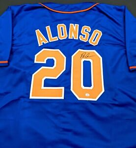 Pete Alonso New York Mets Autographed Signed Jersey Large COA