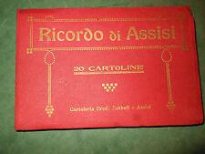 Ricordo di Assisi 20 cartoline Cartoleria Eredi Zubboli Assisi old photo CB822 ^