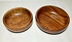 2 Olive Wood Bowls