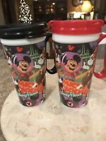 Disney World Parks Mickey Mouse Club Mugs - Travel Resort Whirley Tumbler Cups