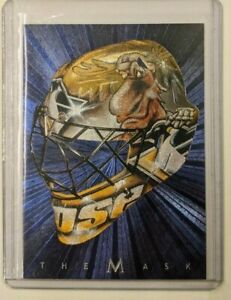 2001-02 Be A Player Between The Pipes Mask - Johan Hedberg - The Moose!