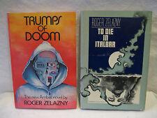 Roger Zelazny TRUMPS OF DOOM To Die In Italbar science fiction book lot 1970s HC