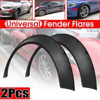 Black 2X Auto Car Body Fender Flares Flexible Durable Polyurethane Kit