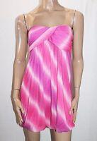 Free Fusion Brand Pink Rainbow Strapless Dress Size L BNWT #TA28