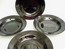 4 PIER 1 IMPORTS BLACK SALAD BOWLS 8''