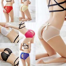 Sexy Women G-string Lingerie Lace Thongs Open Transparent Panties Knickers
