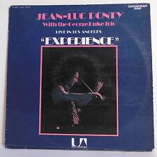 """33 tours Jean Luc PONTY Disque LP 12"""" EXPERIENCE LIVE LOS ANGELES - U.A 29.270"""