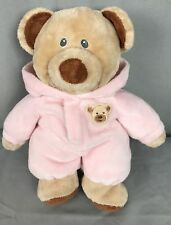 "Ty Pluffies Pink Brown PJ Teddy Bear Pajama Baby Bear 2013 stuffed plush 10"""