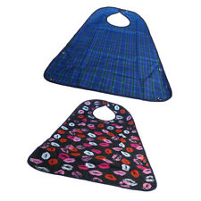 2 Pcs Large Adult Bibs Clothing Mealtime Protector Patient Bibs for Seniors