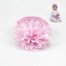 Pink Large Ruffer Flower Hair Band Baby Girl Headband For Reborn Dolls Headwear