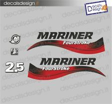 Adesivi motore marino fuoribordo Mariner 2.5 cv four stroke gommone barca decals