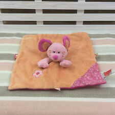 Influx Pink & Orange Mouse Comforter Blanket Blankie Doudou