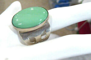 VINTAGE DTR JAY KING GREEN TURQUOISE MINE FINDS  STERLING SILVER RING SIZE 9.5