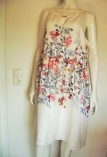 @ C&A @ Sheath Dress Balloon Skirt White Colorful Flowers Size 48 Size