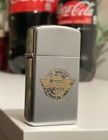 1970 Slim Zippo Lighter Solid Fuel Cell Stake N Shake 🍔 Cigar Cigarette