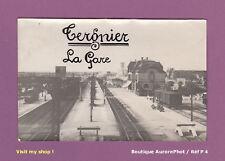 TIRAGE ARGENTIQUE 1920, AISNE, LA GARE & LES QUAIS DE TERGNIER   -P4