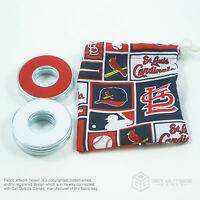 8 VVashers™ w/ St. Louis Cardinals Fabric Bag| Washer Toss / Washer Game Washers