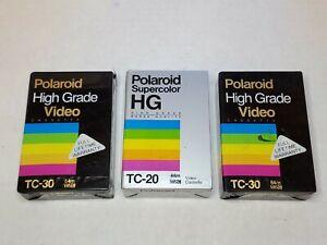 Polaroid Tc-30 Tc-20 High Grade Video Cassette Lot VHSC