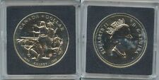 GS444 - Kanada One Dollar 1990 KM#179 Henry Kelsey Indianer, Büffel Silber