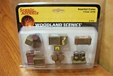 WOODLAND SCENICS ASSORTED CRATES  O SCALE ACCESSORIES