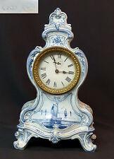 19èm Royal Bonn Franz Mehlem belle pendule horloge cartel 34cm2kg Delft rare