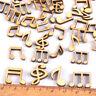 DIY 100pcs Embellishments Music Notes Wooden Scrapbooking Card Making Craft
