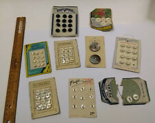 85 Buttons VINTAGE Bakelite + Mother of Pearl OLD STOCK LOT on cards FRENCH Baby