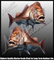 SNAPPER - Mirrored Pair - 330mm X 240mm - BOAT DECALS