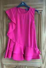 TU Brand New Pink Frill Sleeveless Summer Top Blouse Plus Size 8 - 22