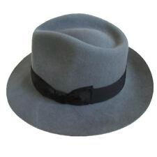 Classic Men's Wool Felt Fedora Hat Gangsters Traditional Godfather Mafia Cap