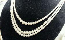 Pearl (Imitation) Glass Vintage Costume Jewellery (1950s)